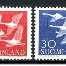 Sellos: SELLOS NUEVOS CON SUPER LIGERAS MARCAS DE CHARNELAS DE FINLANDIA, YT 445/ 46. Lote 189834170