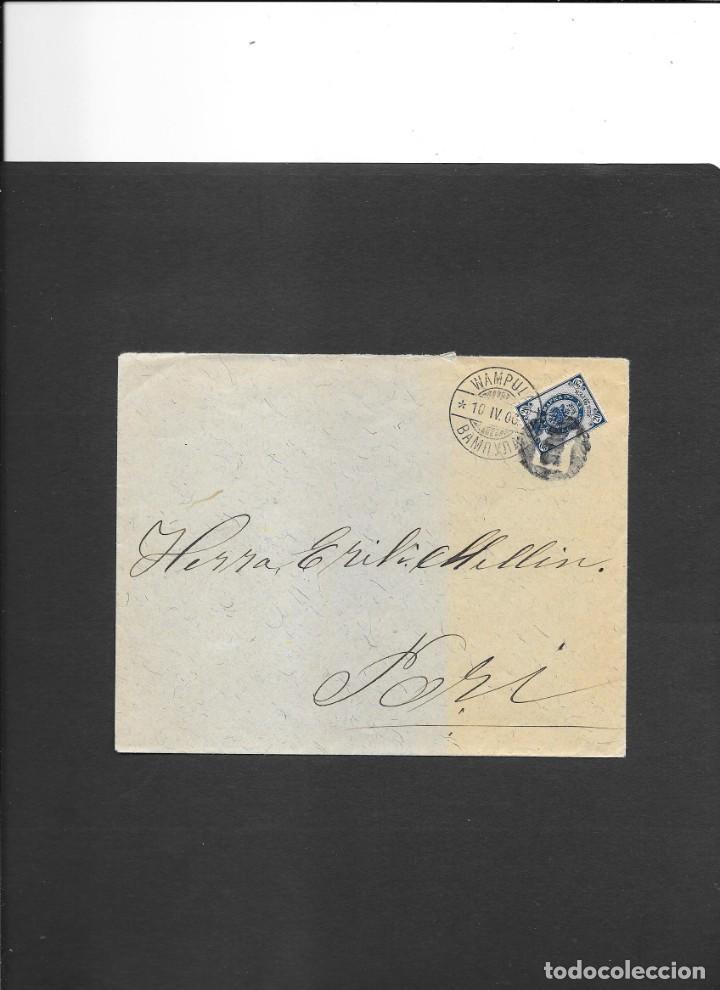 FINLANDIA CURIOSA CARTA CIRCULADA EN 1906, Y CON EXCELENTE CONSERVACION (Sellos - Extranjero - Europa - Finlandia)