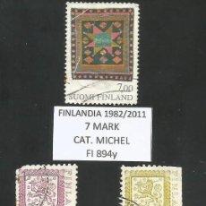 Sellos: FINLANDIA VARIOS AÑOS - LOTE 3 SELLOS USADOS. Lote 193181627