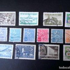 Sellos: FINLANDIA, LOTE DE 14 DIFERENTES . Lote 194385137
