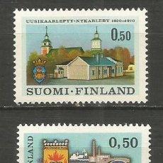 Sellos: FINLANDIA YVERT NUM. 643/644 ** SERIE COMPLETA SIN FIJASELLOS. Lote 198113048