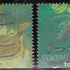Sellos: SELLOS USADOS DE FINLANDIA YT 1587/ 88, FOTO ORIGINAL. Lote 198788466