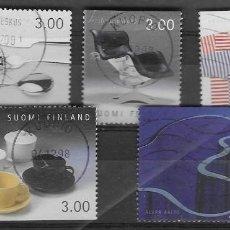 Sellos: SELLOS USADOS DE FINLANDIA YT 1417 + 18 + 19 + 20 + 22, FOTO ORIGINAL. Lote 198790051