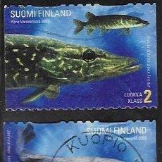 Sellos: SELLOS USADOS DE FINLANDIA YT 1588 + 1600, FOTO ORIGINAL. Lote 198800067