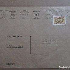 Sellos: CIRCULADA 1966 DE HELSINGFORS FINLANDIA A BARCELONA. Lote 198999220