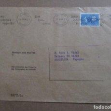 Sellos: CIRCULADA 1966 DE HELSINGFORS FINLANDIA A BARCELONA. Lote 198999262
