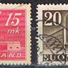 Sellos: FINLANDIA Nº 324/5, CASTILLO DE OLAVINLINNA Y OFICINA DE CORREOS DE HELSINKI, USADO (SERIE COMPLETA(. Lote 201122856