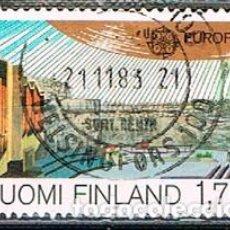 Sellos: FINLANDIA IVERT 940, GRANDES OBRAS DE LA INGENIERÍA: IGLESIA EN LA PLAZA DEL TEMPLO DE HELSINKI, USA. Lote 201139728
