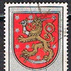 Sellos: FINLANDIA IVERT Nº 757. ESCUDO NACIONAL. DE LA TUMBA DEL REY GUSTAVO VASA, CATEDRAL DE UPPSALA, USAD. Lote 201141273