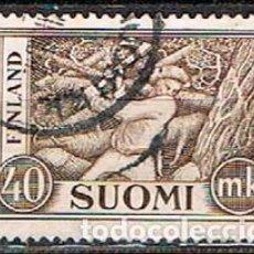 Sellos: FINLANDIA IVERT Nº 413, LEÑADOR, USADO. Lote 201141861