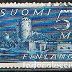 Sellos: FINLANDIA IVERT Nº 161 (AÑO 1.930), FORTALEZA DE OLAVINLINNA, USADO. Lote 201143031