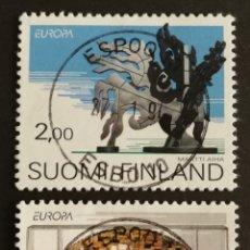 Sellos: FINLANDIA, EUROPA 1993,ARTE CONTEMPORÁNEO, USADA (FOTOGRAFÍA REAL). Lote 203310032