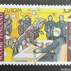 Sellos: FINLANDIA, EUROPA CEPT 1996 MNH, MUJERES CÉLEBRES (FOTOGRAFÍA REAL). Lote 203428955