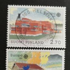 Sellos: FINLANDIA, EUROPA CEPT 1990 USADOS, ESTABLECIMIENTOS POSTALES (FOTOGRAFÍA REAL). Lote 203454910