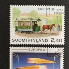 Sellos: FINLANDIA, EUROPA CEPT 1988 USADA, TRANSPORTES Y COMUNICACIONES (FOTOGRAFÍA REAL). Lote 204024415