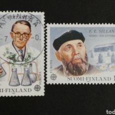 Sellos: FINLANDIA, EUROPA CEPT 1980, USADA (FOTOGRAFÍA REAL). Lote 204824717