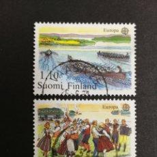Sellos: FINLANDIA, EUROPA CEPT 1981 USADA (FOTOGRAFÍA REAL). Lote 204824953