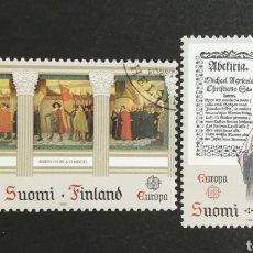 Sellos: FINLANDIA, EUROPA CEPT 1982 USADA (FOTOGRAFÍA REAL). Lote 204825198