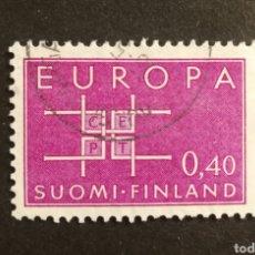 Sellos: FINLANDIA, EUROPA CEPT 1963 COMPLETA Y USADA (FOTOGRAFÍA REAL). Lote 205568737