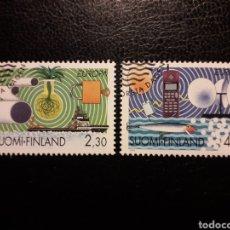 Sellos: FINLANDIA YVERT 1214/5 SERIE COMPLETA USADA. EUROPA 1994. INDUSTRIA PAPELERA. TELÉFONO MÓVIL. BARCOS. Lote 211443731