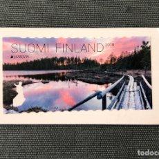 Timbres: SELLO NUEVO DE FINLANDIA SOBRE FRAGMENTO (LAGO). Lote 211945990