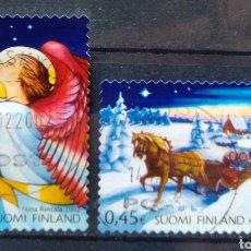 Timbres: FINLANDIA NAVIDAD 2002 SERIE DE SELLOS USADOS. Lote 220804016