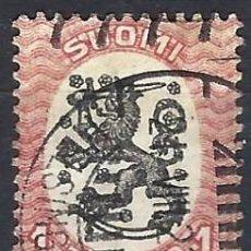 Sellos: FINLANDIA 1917 - ESCUDO NACIONAL - SELLO USADO. Lote 213408170