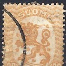 Sellos: FINLANDIA 1917 - ESCUDO NACIONAL - SELLO USADO. Lote 213408625