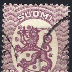Sellos: FINLANDIA 1917 - ESCUDO NACIONAL - SELLO USADO. Lote 213408712