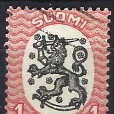 Sellos: FINLANDIA 1917 - ESCUDO NACIONAL - SELLO USADO. Lote 213408816