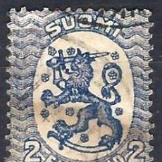 Sellos: FINLANDIA 1922-24 - ESCUDO NACIONAL - SELLO USADO. Lote 213409472