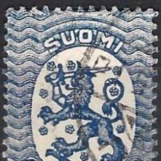 Sellos: FINLANDIA 1922-24 - ESCUDO NACIONAL - SELLO USADO. Lote 213409521
