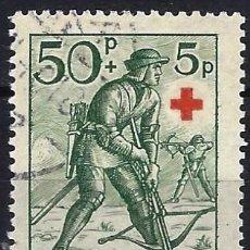 Sellos: FINLANDIA 1940 - CRUZ ROJA, SOLDADOS, ARQUERO DEL SIGLO XV - SELLO USADO. Lote 213411346