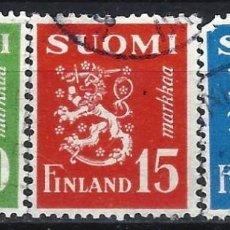 Sellos: FINLANDIA 1952 - ESCUDO NACIONAL, S.COMPLETA - SELLOS USADOS. Lote 213412773