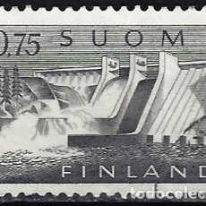 Sellos: FINLANDIA 1963 - CAMBIO DE MONEDA, CENTRAL HIDROELÉCTRICA DE PYHÄKOSKI - SELLO USADO. Lote 213417317