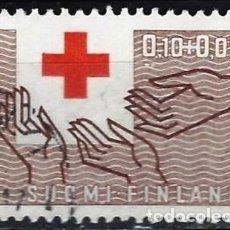 Sellos: FINLANDIA 1963 - CENTENARIO DE LA CRUZ ROJA - SELLO USADO. Lote 213417496
