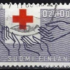 Sellos: FINLANDIA 1963 - CENTENARIO DE LA CRUZ ROJA - SELLO USADO. Lote 213417561