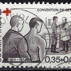 Sellos: FINLANDIA 1964 - CRUZ ROJA, CENTENARIO DE LA CONVENCIÓN DE GINEBRA - SELLO USADO. Lote 213417751