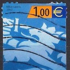 Sellos: FINLANDIA 2002 - ESCUDO NACIONAL - SELLO USADO ADHESIVO. Lote 213419820