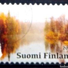 Sellos: FINLANDIA 2017 LAS ESTACIONES OTOÑO SELLO USADO. Lote 257782605
