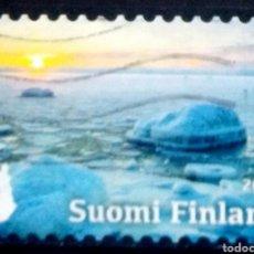 Sellos: FINLANDIA 2017 LAS ESTACIONES INVIERNO SELLO USADO. Lote 257782530