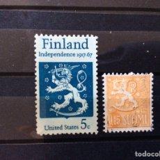 Sellos: 2 SELLOS FINLANDIA. Lote 214393280