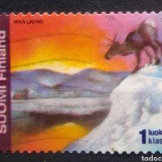 Sellos: FINLANDIA 2002 FAUNA RENO SELLO USADO. Lote 215122850
