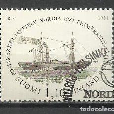 Sellos: 9360E-SUOMI FINLAND FINLANDIA SERIE COMPLETABARCOS SHIPS 1981 Nº844. 6,00€ ENVIOS COMBINADOS SI,SOL. Lote 218428420