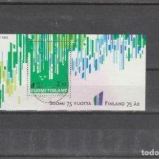 Sellos: FINLANDIA 1992 - YVERT NRO. BF9 - USADO - ALGO DESPRENDIDA DE LA VIÑETA. Lote 220485048