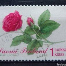 Sellos: FINLANDIA 2004 FLORES SELLO USADO. Lote 220804042