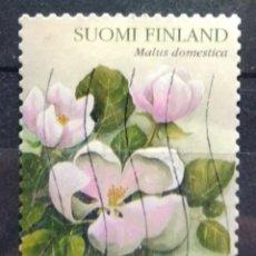 Sellos: FINLANDIA 2003 FLORES DEL MANZANO SELLO USADO. Lote 269027129