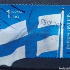 Sellos: FINLANDIA 2006 BANDERA NACIONAL SELLO USADO. Lote 220804603