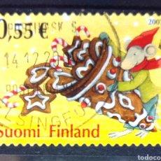 Sellos: FINLANDIA 2007 NAVIDAD SELLO USADO. Lote 221623251