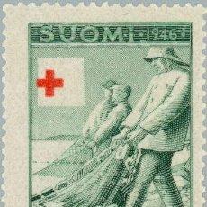 Sellos: FINLANDIA 1946 SCOTT B74 SELLO ** CRUZ ROJA PESCADORES ARRASTRANDO LA RED MICHEL 320 YVERT 305 POSTI. Lote 222476315